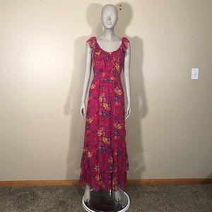 NWT Old Navy Pink Floral Print Tank Maxi Dress